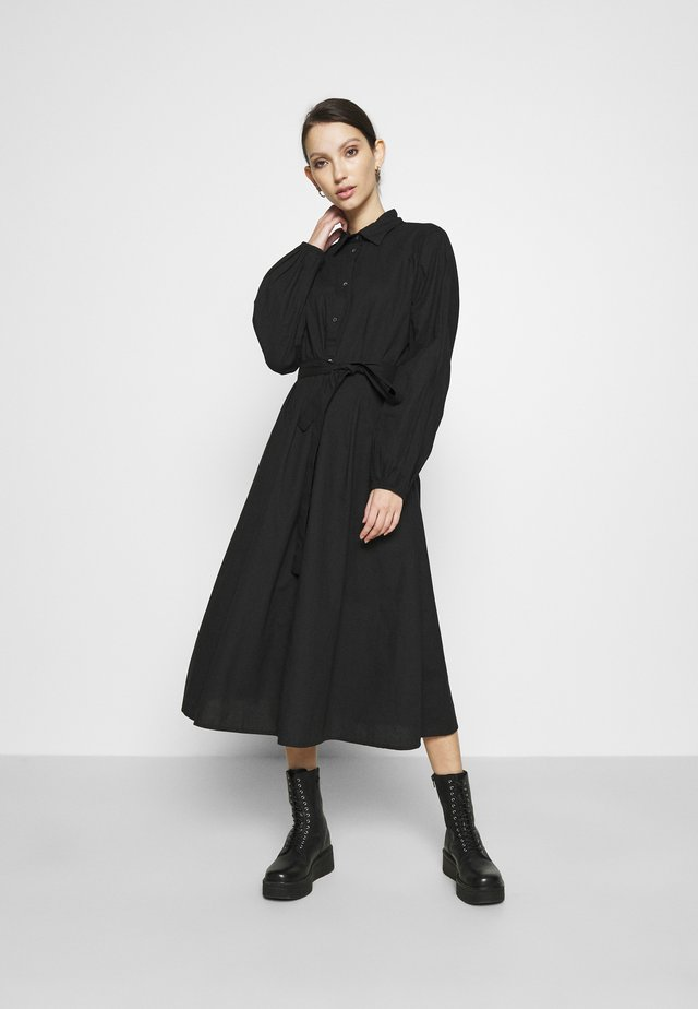 JOSE DRESS - Skjortklänning - black