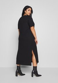 Zign Curvy - CURVY MIDI - Jersey dress - black - 2