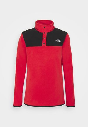 GLACIER SNAP NECK - Fleecegenser - horizon red/black