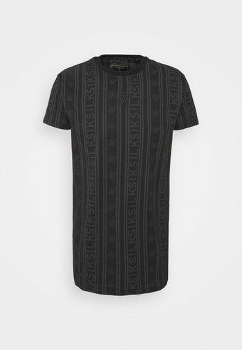 FITTED BOX TEE - Print T-shirt - black/grey