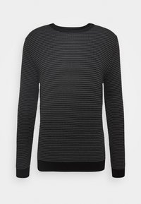 Antony Morato - ROUND COLLAR IN BICOLOUR - Jumper - gun grey - 0
