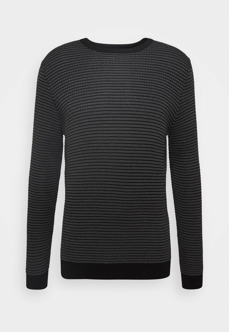 Antony Morato - ROUND COLLAR IN BICOLOUR - Jumper - gun grey