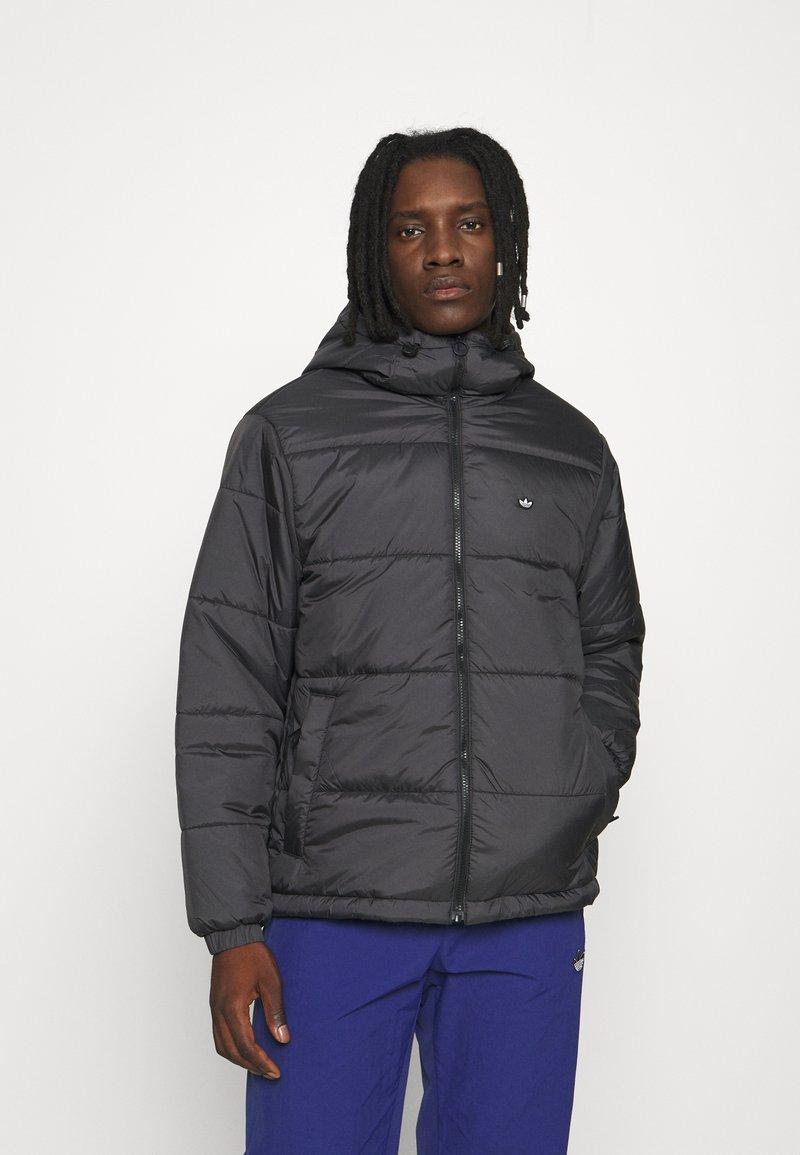 adidas Originals - PAD HOODED PUFF - Kurtka zimowa - black