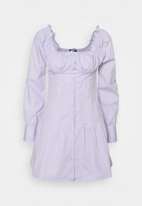 Missguided - CINCHED WAIST BUTTON THROUGH DRESS - Kjole - lilac - 0