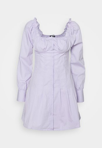 CINCHED WAIST BUTTON THROUGH DRESS - Kjole - lilac