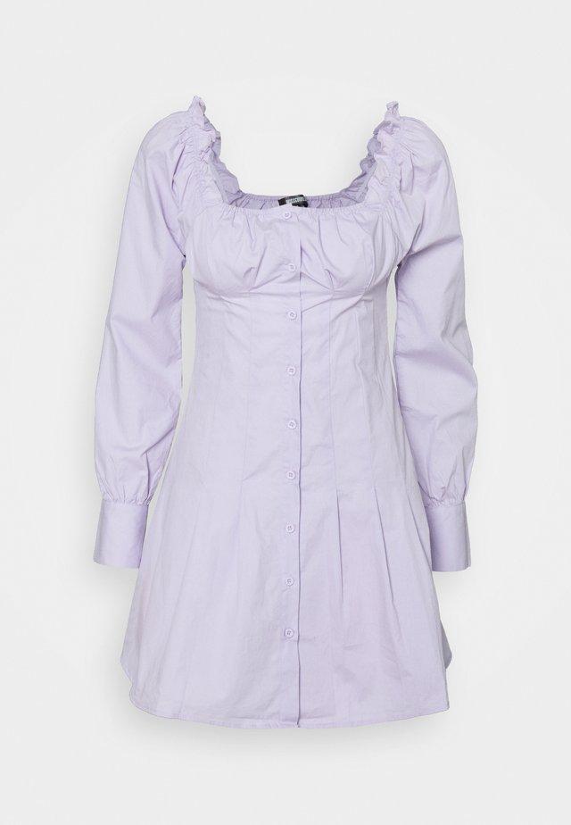 CINCHED WAIST BUTTON THROUGH DRESS - Korte jurk - lilac