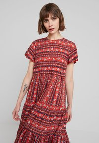 Louche - THEODEN FOLKSTRIPE - Day dress - red - 4