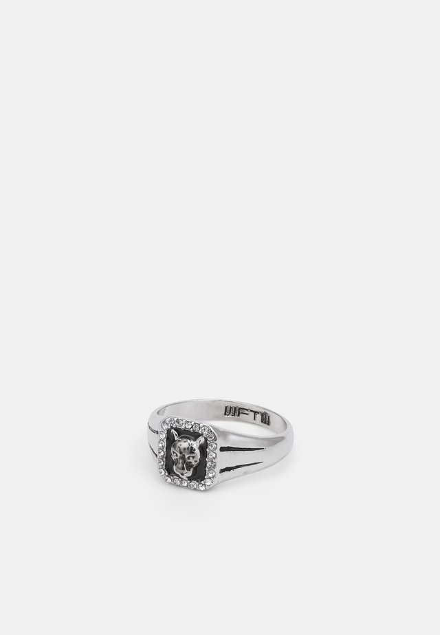 WELCOME TO THE JUNGLE RECTANGLE LEOPARD - Ring - silver-coloured
