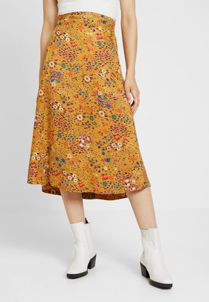 PRINTED SKIRT - A-line skirt - golden