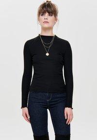 ONLY - ONLEMMA HIGH NECK - Long sleeved top - black - 0