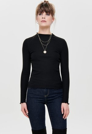 ONLEMMA HIGH NECK - Top s dlouhým rukávem - black