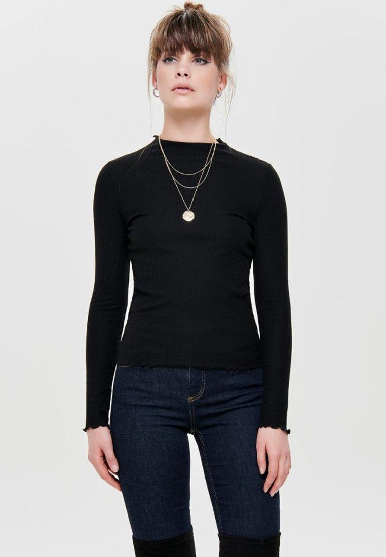 ONLY - ONLEMMA HIGH NECK - Long sleeved top - black