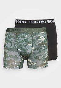 Björn Borg - DIGITAL WOODLAND 2 PACK - Culotte - duck green - 4