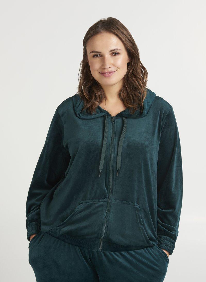 Zizzi - SAMT - Zip-up hoodie - dark green