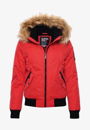 Winter jacket - burnt red