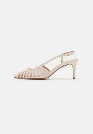 WIDEDARBY MISS TWO PART STILETTO COURT - Classic heels - ecru
