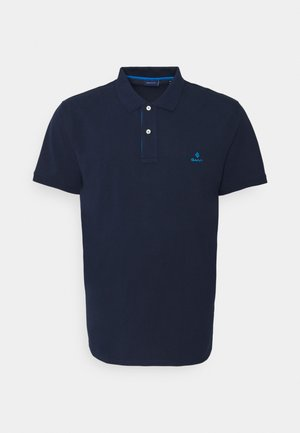 CONTRAST COLLAR RUGGER - Polo shirt - classic blue