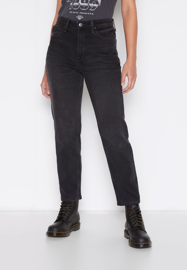 STELLA TAPERED - Relaxed fit jeans - black duns