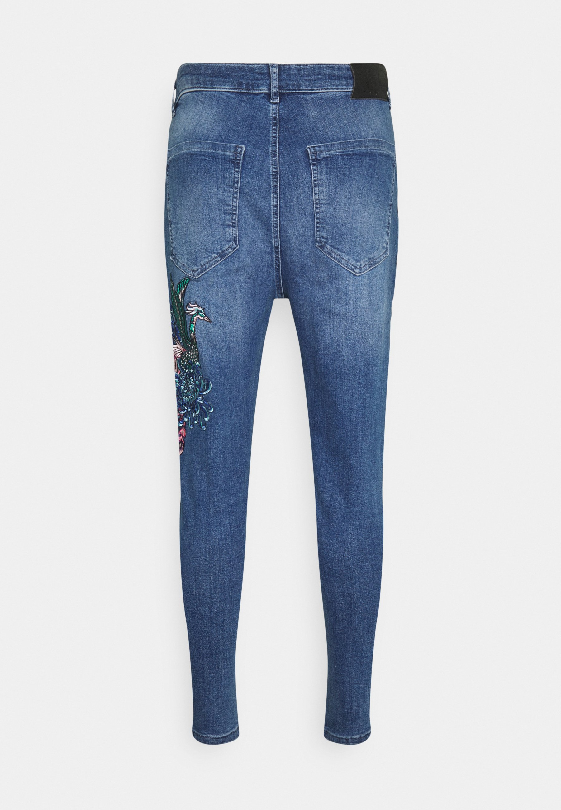 Men AOKI DROP CROTCH EMBROIDERED - Slim fit jeans