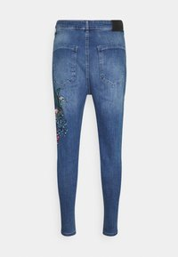 SIKSILK - AOKI DROP CROTCH EMBROIDERED - Slim fit jeans - midstone blue - 5