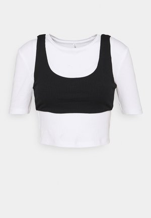 ONLSIMPLE LIFE 2-IN-1 - Basic T-shirt - bright white/black