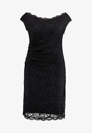 EXCLUSIVE SWING BARDOT BODYCON DRESS - Robe de soirée - black
