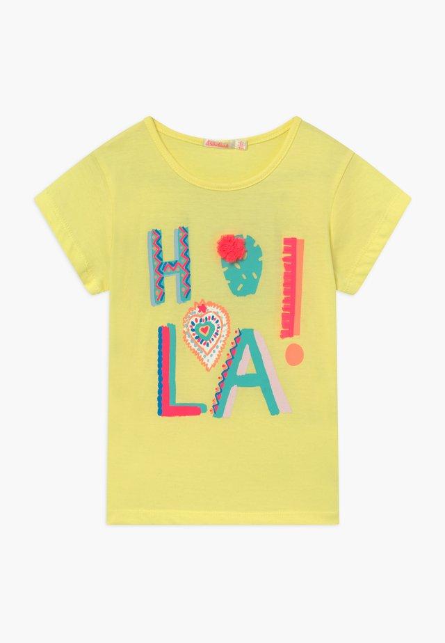 T-shirt med print - lime