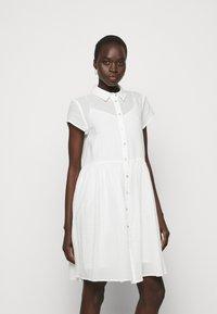Bruuns Bazaar - KATHIS DRESS - Shirt dress - snow white - 0