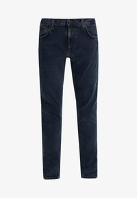 Nudie Jeans - TIGHT TERRY - Džíny Slim Fit - black ocean - 3