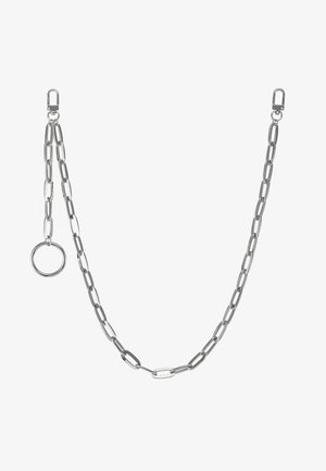 CLEAN CABLE WALLET CHAIN - Nyckelringar - rhodium