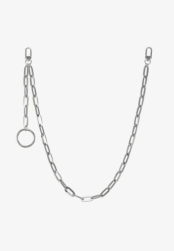 CLEAN CABLE WALLET CHAIN - Nyckelringar - rhodium