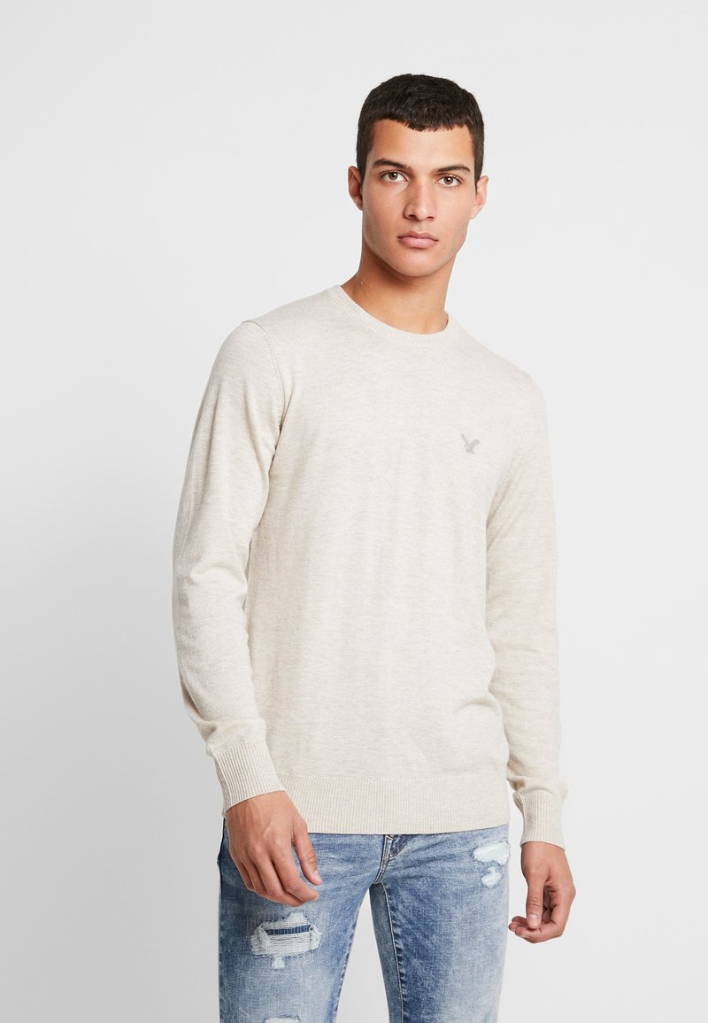 American Eagle - CREW - Pullover - oatmeal heather