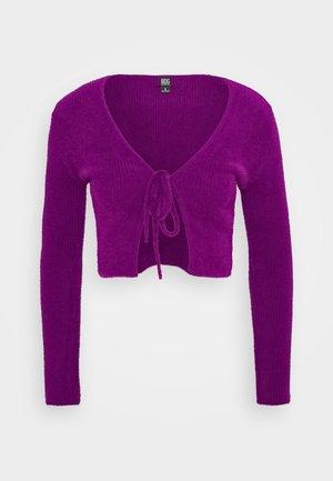 NOORI TIE FRONT CARDI - Cardigan - purple