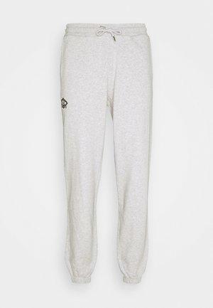 PANTS - Tracksuit bottoms - grey melange/black