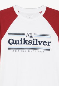 Quiksilver - GET BUZZY - Long sleeved top - white/garnet - 3