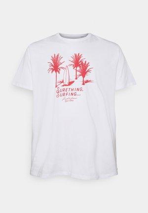 JORSTREAMS TEE CREW NECK  - Print T-shirt - white