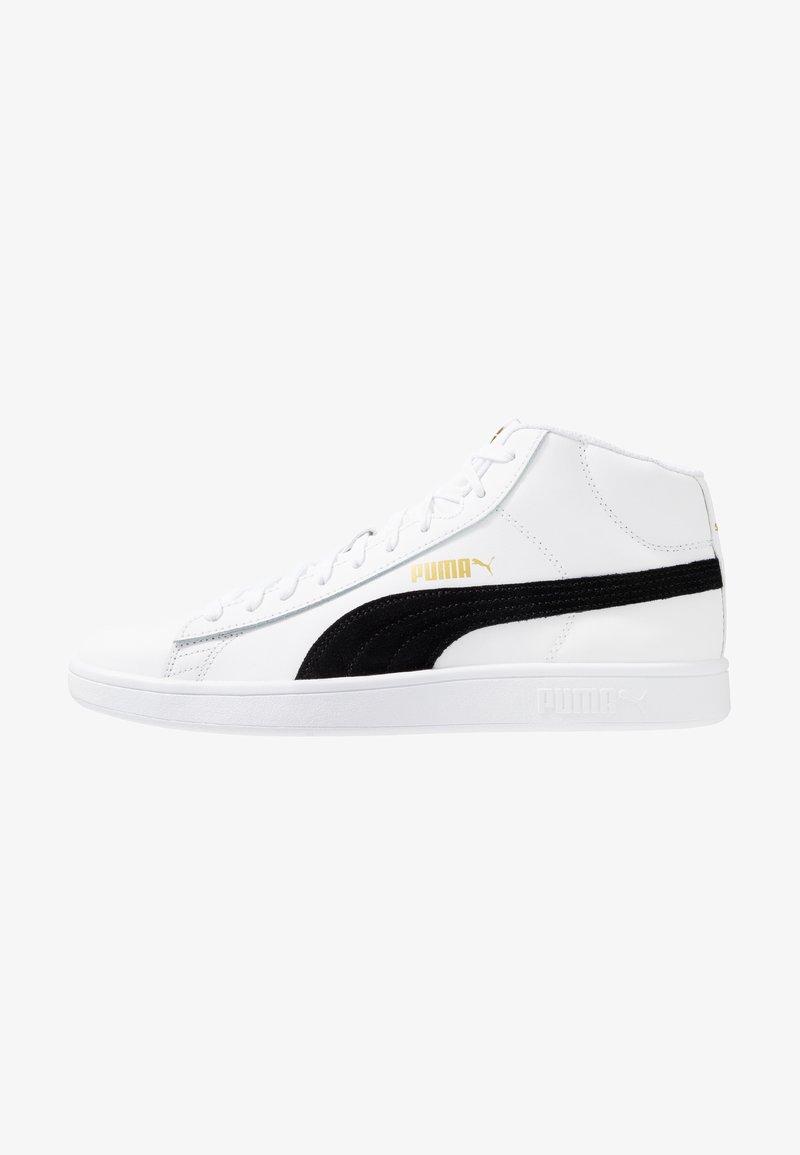 Puma - SMASH MID UNISEX - High-top trainers - white/black/team gold/high rise