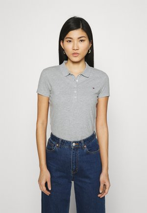SLIM - Polo - light grey heather