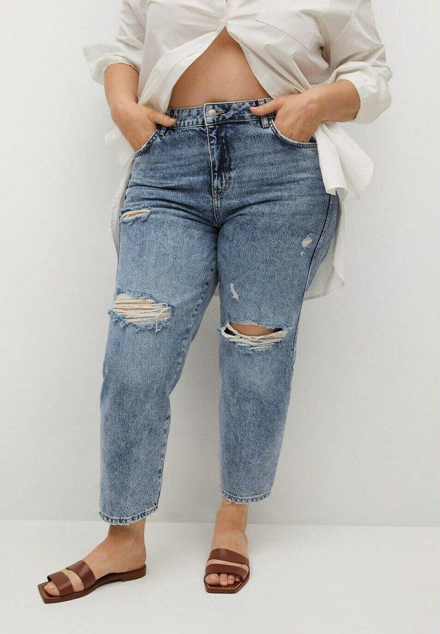 Jeans a sigaretta - mittelblau