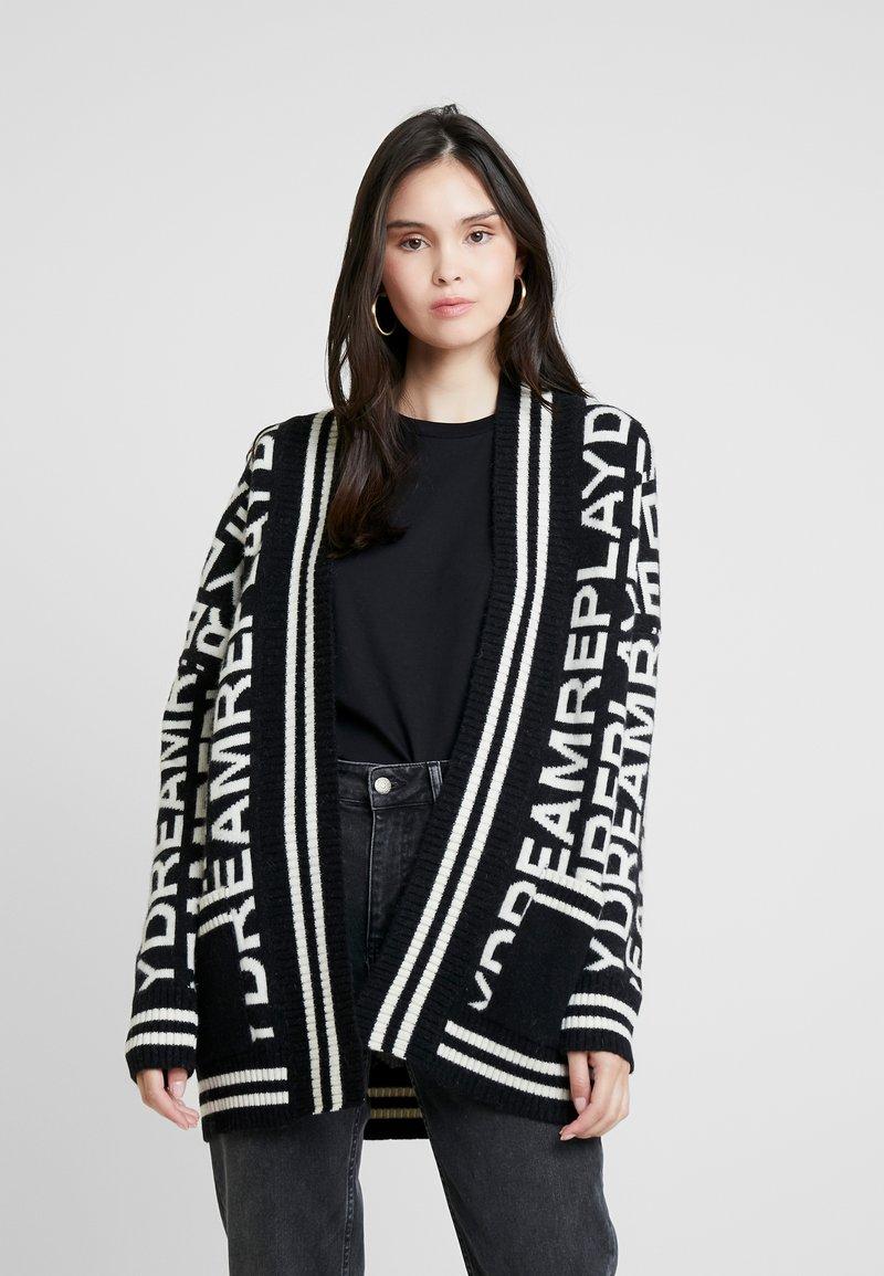 Replay - Cardigan - black/white