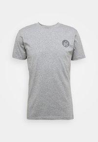 ALDER OWL BADGE TEE - Print T-shirt - mottled grey