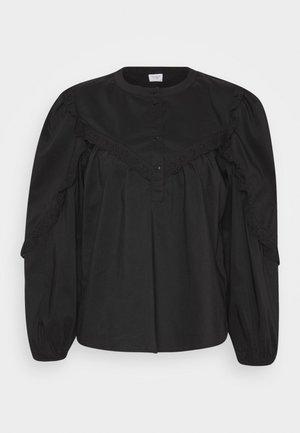 JDYENYA PLACKET PUFF - Blouse - black