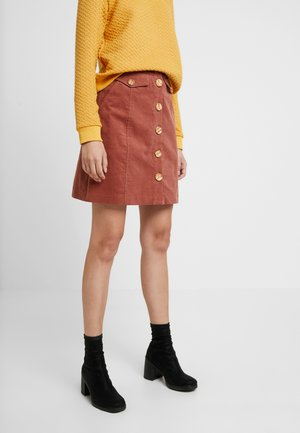NEOLA - A-line skirt - dark peach
