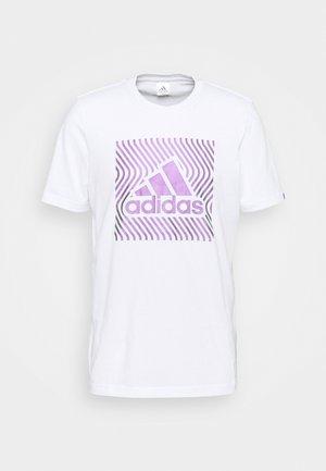 T-shirts med print - white/dark purple