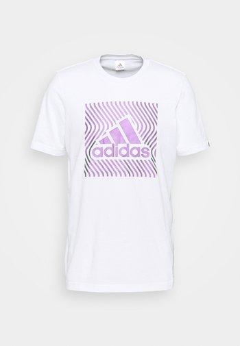 Triko spotiskem - white/dark purple
