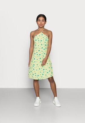 HALTERNECK PRINT MINI DRESS - Robe d'été - yellow