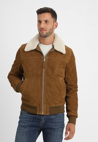 Schott - OFFICIER - Leather jacket - rust - 0