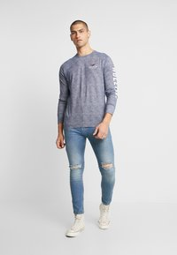Daily Basis Studios - SKINNY FIT CAST - Jeans Skinny Fit - blue rip - 1