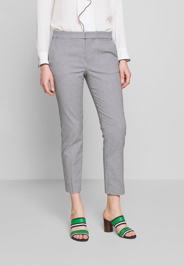 STRETCH PANT - Kalhoty - black/white