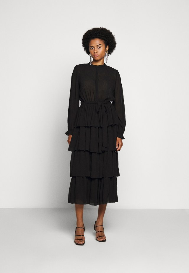 JUSTINA SANA DRESS - Shirt dress - black